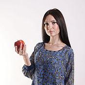 """Одежда ручной работы. Ярмарка Мастеров - ручная работа Платье """"Садко"""" синее. Handmade."""