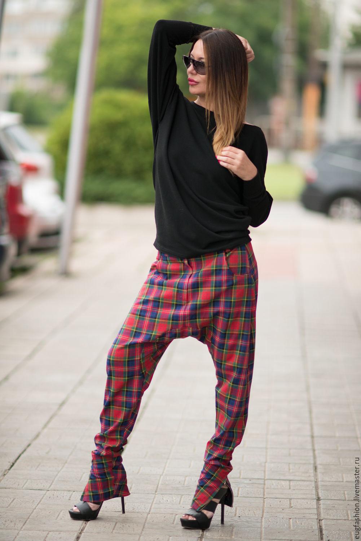 Pants, plaid Pants, Women pants, Pants with pocket, Fashion pants, cotton Pants, EUG