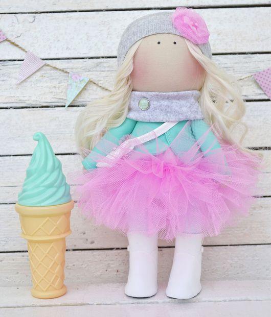 Коллекционные куклы ручной работы. Ярмарка Мастеров - ручная работа. Купить Интерьерная кукла (Большеножка). Handmade. Бледно-розовый