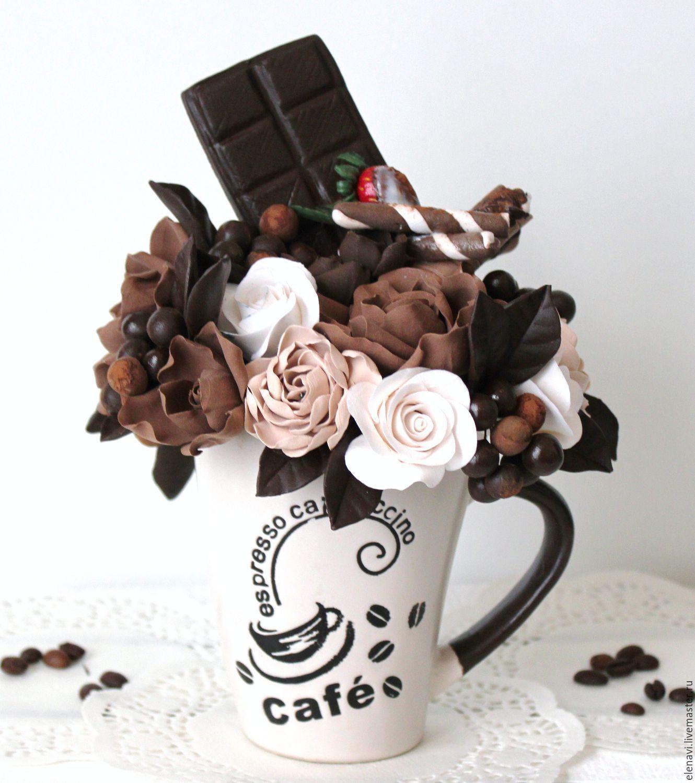 Кофе шоколад цветы