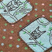 "Канцелярские товары ручной работы. Ярмарка Мастеров - ручная работа Блокнот А6 ""Owl Never Sleep"". Handmade."