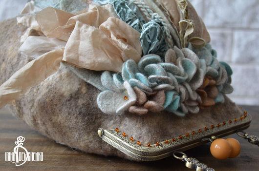 Женские сумки ручной работы. Ярмарка Мастеров - ручная работа. Купить Валяная сумочка «Мятная карамель». Handmade. Войлок
