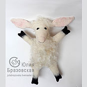 Кукольный театр ручной работы. Ярмарка Мастеров - ручная работа Кукольный театр: Бибабо Овечка. Игрушка на руку Овца. Handmade.