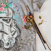Одежда ручной работы. Ярмарка Мастеров - ручная работа женская футболка Штурмовик. Handmade.