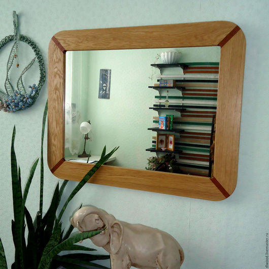 Зеркала ручной работы. Ярмарка Мастеров - ручная работа. Купить Зеркало настенное. Handmade. Зеркало настенное, рамка из дерева, мербау
