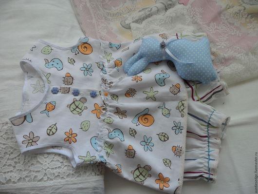 """Одежда для девочек, ручной работы. Ярмарка Мастеров - ручная работа. Купить ПИЖАМА для девочки """"Спят усталые игрушки"""". Handmade. Белый"""