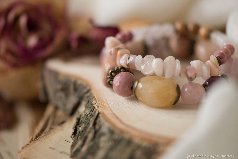 Купить браслеты ручной работы. Украшение. Аксессуар. Handmade. Комплект браслетов. Браслеты из камней.