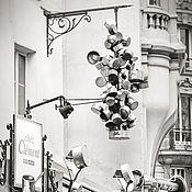 Картины и панно ручной работы. Ярмарка Мастеров - ручная работа Фотокартина Парижское кафе, черно белая фотография для интерьера кухни. Handmade.
