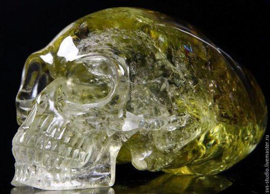 """Подарки на Хэллоуин ручной работы. Ярмарка Мастеров - ручная работа. Купить Стеклянный череп """"Чужой"""". Handmade. Стеклянный череп"""