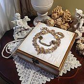 Для дома и интерьера ручной работы. Ярмарка Мастеров - ручная работа Шкатулка Белая магия. Handmade.