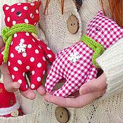 Куклы и игрушки ручной работы. Ярмарка Мастеров - ручная работа Мишка в шарфике. Handmade.