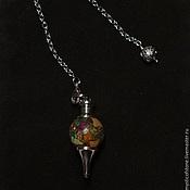 Фен-шуй и эзотерика handmade. Livemaster - original item Multicolor Jasper 40mm Gemstone Ball Pendulum Chakra Pendant. Handmade.