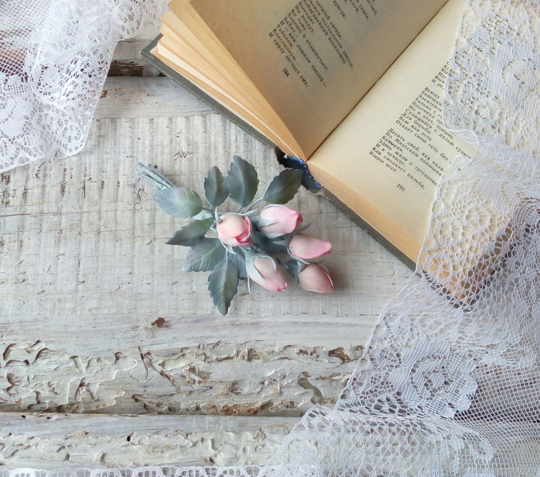 Брошь Туманные розы – заказать на Ярмарке Мастеров – FM00DRU | Брошь-булавка, Пермь