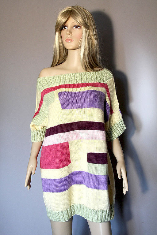 """Платья ручной работы. Ярмарка Мастеров - ручная работа. Купить Платье-свитер """"Модный тренд"""". Handmade. Вязаное платье"""
