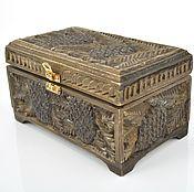 Для дома и интерьера handmade. Livemaster - original item Box wooden carved box treasure chest, jewelry box. Handmade.