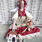 Куклы и игрушки ручной работы. Ярмарка Мастеров - ручная работа Домашняя феечка с котом. Handmade.