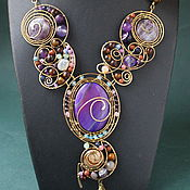 handmade. Livemaster - original item Necklace gravity (the version with oval stone). Handmade.