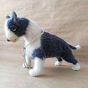 handmade. Livemaster - original item Knitted Bull Terrier Toy. Handmade.