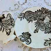 handmade. Livemaster - original item Painted porcelain. Decorative vase
