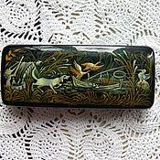 Сумки и аксессуары handmade. Livemaster - original item Spectacle case on the subject of hunting or fishing.Miniature painting. Handmade.