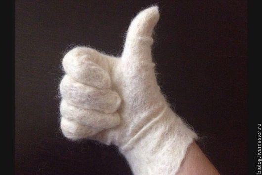 Варежки, митенки, перчатки ручной работы. Ярмарка Мастеров - ручная работа. Купить Шерстяные перчатки  - лучшие! Валяные перчатки именные перчатки. Handmade.