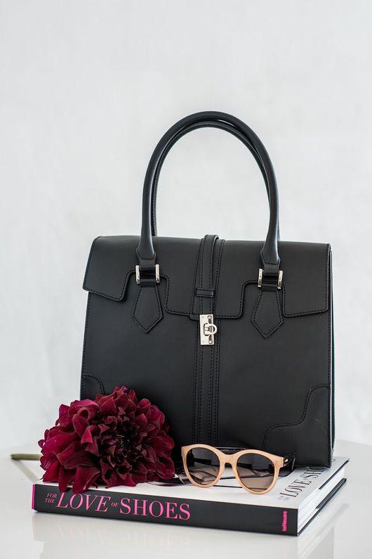 Женские сумки ручной работы. Ярмарка Мастеров - ручная работа. Купить Кожаная сумка Bliss. Handmade. Тёмно-синий