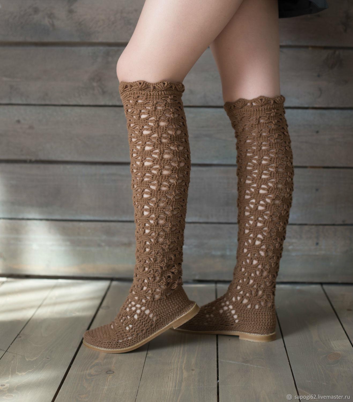 "Summer boots  ""Christina"", High Boots, Ryazan,  Фото №1"
