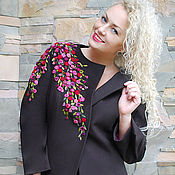 Одежда handmade. Livemaster - original item Warm embroidered suit - jacket and skirt