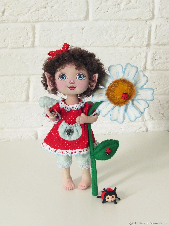 Текстильная кукла Летняя Феечка, Куклы и пупсы, Трехгорный,  Фото №1