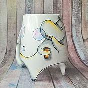 """Посуда ручной работы. Ярмарка Мастеров - ручная работа """"Муми-тролль"""" чашка с ножками. Handmade."""