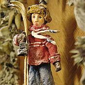 Куклы и игрушки ручной работы. Ярмарка Мастеров - ручная работа Елочная игрушка из ваты. Коля.. Handmade.