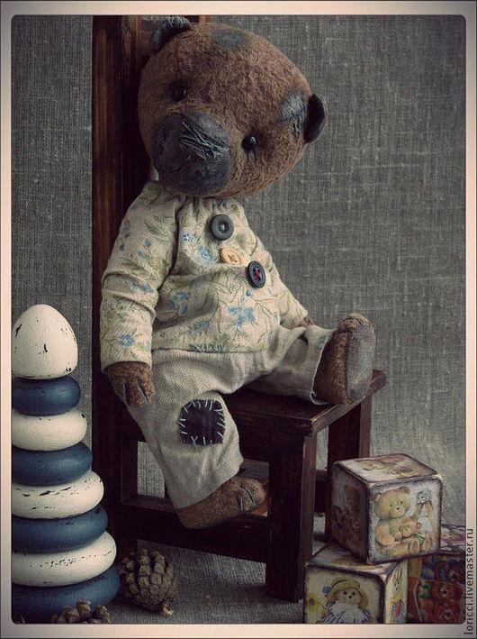 Мишки Тедди ручной работы. Ярмарка Мастеров - ручная работа. Купить Мишка тедди Гриша. Handmade. Мишка, тедди медведи
