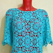 Одежда handmade. Livemaster - original item Blouse Turquoise. Handmade.