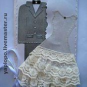 """Свадебный салон ручной работы. Ярмарка Мастеров - ручная работа HandMade открытка-конверт """"Свадебная"""". Handmade."""