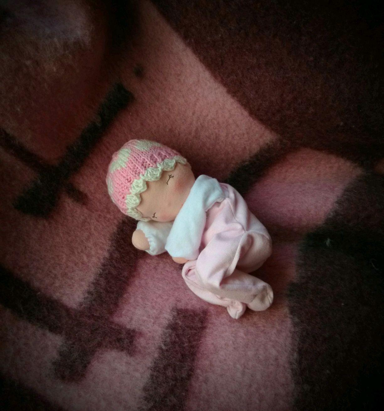 Баинька Розовое сердце, Вальдорфская игрушка, Ивня, Фото №1