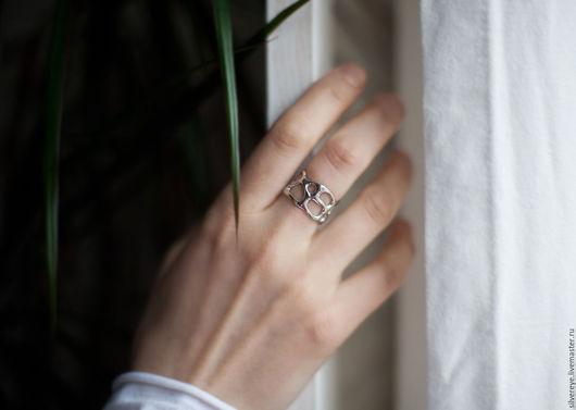 """Кольца ручной работы. Ярмарка Мастеров - ручная работа. Купить Серебряное кольцо """"Паутина"""". Handmade. Кольцо, серебряное кольцо"""