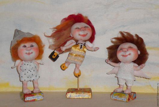 Коллекционные куклы ручной работы. Ярмарка Мастеров - ручная работа. Купить Куклы по картинам Е.Гапчинской.. Handmade. Желтый