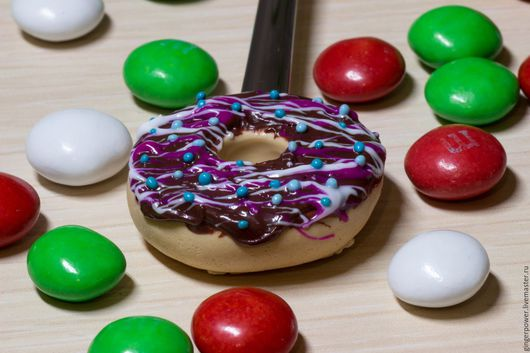 """Ложки ручной работы. Ярмарка Мастеров - ручная работа. Купить Вкусная ложечка """"Сладкий пончик"""". Handmade. Комбинированный, вкусные ложки"""