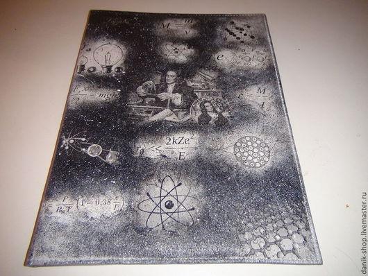 """Папки для бумаг ручной работы. Ярмарка Мастеров - ручная работа. Купить Папка для бумаг """"Физика"""". Handmade. Чёрно-белый"""