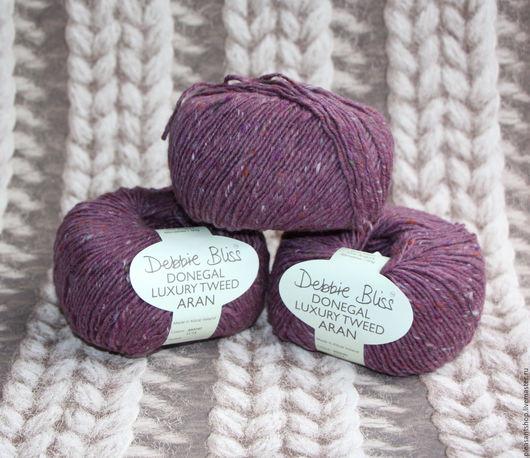 Вязание ручной работы. Ярмарка Мастеров - ручная работа. Купить Debbie Bliss Donegal Luxury Tweed Lilac. Handmade. Брусничный