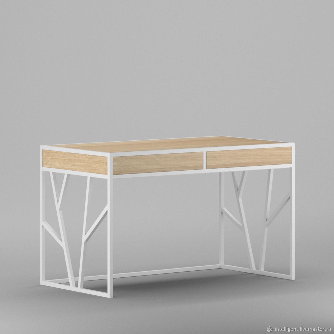 Мебель ручной работы. Ярмарка Мастеров - ручная работа. Купить Рабочий стол Oxford white box светлый дуб. Handmade.
