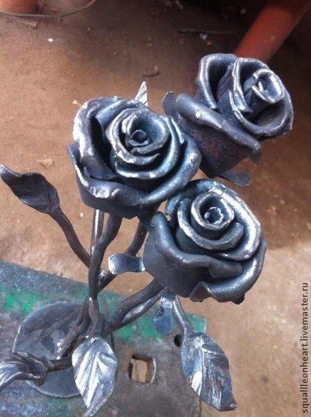 Подсвечники ручной работы. Ярмарка Мастеров - ручная работа. Купить Кованые цветы. Handmade. Разноцветный, сталь, сталь