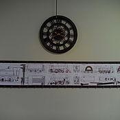 """Дизайн и реклама ручной работы. Ярмарка Мастеров - ручная работа Панно """" Чертеж паровоза"""". Handmade."""