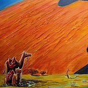 """Картины и панно ручной работы. Ярмарка Мастеров - ручная работа """"Дюна. Пейзаж"""". Картина маслом на холсте.. Handmade."""