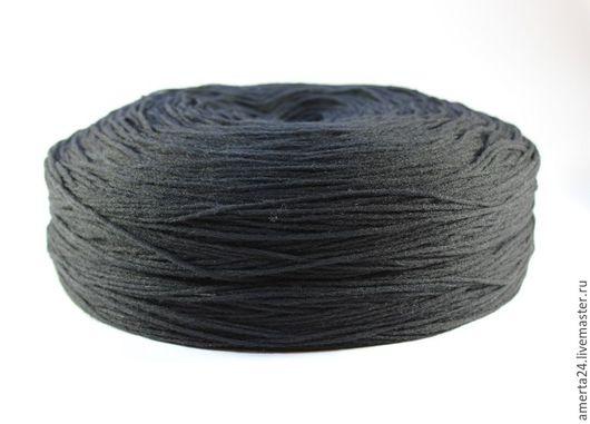 Вязание ручной работы. Ярмарка Мастеров - ручная работа. Купить Ровница (ангора), черная, вес 250 гр. Handmade. Черный