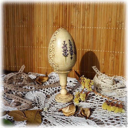 """Подарки на Пасху ручной работы. Ярмарка Мастеров - ручная работа. Купить Пасхальное яйцо """"Лаванда"""". Handmade. Бежевый, лаванда"""