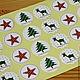 Упаковка ручной работы. Ярмарка Мастеров - ручная работа. Купить 0811 Крафт наклейки Новогодние для упаковки круг 2,8 см 12 штук. Handmade.
