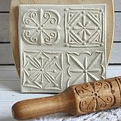 Для дома и интерьера handmade. Livemaster - original item Rolling pin for cookies on four geometric pictures. Handmade.
