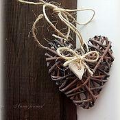 Подарки к праздникам handmade. Livemaster - original item Woven decorative heart in a rustic style.. Handmade.