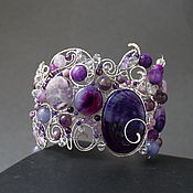 Украшения handmade. Livemaster - original item Bracelet Amethyst Midnight (option). Handmade.